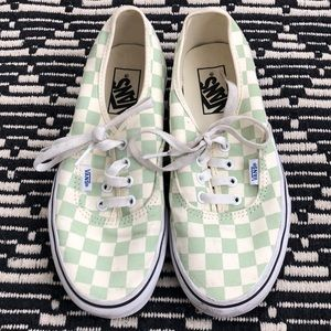 Vans Mint Green Cream Checker Lace Up